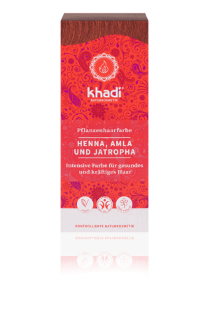 Pflanzenhaarfarbe Henna Rot (Amla & Jatopha) Khadi