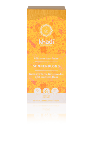 Pflanzenhaarfarbe Sonnenblond Khadi
